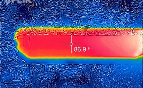 Thermal image of the Alpha 9